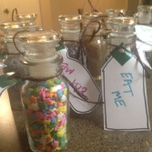 """Sprinkles for """"Ettiquete Friday: Wonderland"""" Every Friday we have a special snack with a theme. These were for our Wonderland Tea Party."""