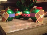 Ninja Turtle Ornaments. We havn't done this one yet but we will! These were mine from a practice session with my friend Kim. Next week the kids will get to try. I think I'll make some Star Wars variations too, since they love the TV show.