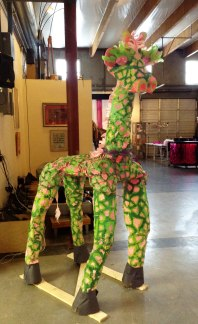 The Emerson Art 4 Life Giraffe completed and set up at the Splendorporium.