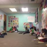 One of my Art for Life classes during reading time.